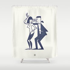 Just shut the fuck up and love me Shower Curtain