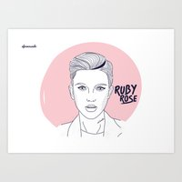 Ruby Rose Art Print