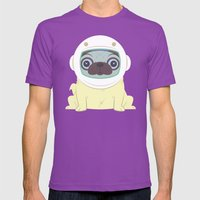 Pug In Space Mens Fitted Tee Ultraviolet SMALL