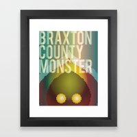 Braxton County Monster Framed Art Print