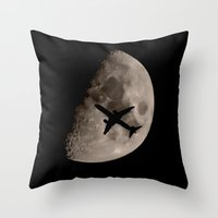 Under The Moons Shadow Throw Pillow