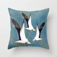 Jeffy Seagull Throw Pillow