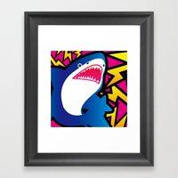 Shark!! Framed Art Print