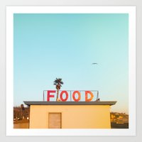 "food Art Prints featuring ""FOOD"" by SO FAR SO GOOD / Rob Kalmbach"