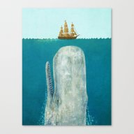 Canvas Print featuring The Whale  by Terry Fan