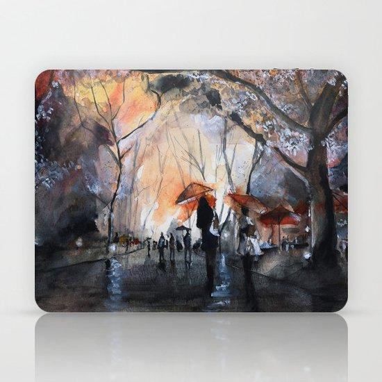 Autumn rain - watercolor Laptop & iPad Skin