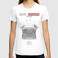 Ruby Sparks Womens Fitted Tee White SMALL