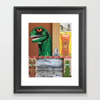 Tiki Monsters Of Mass Destruction Framed Art Print