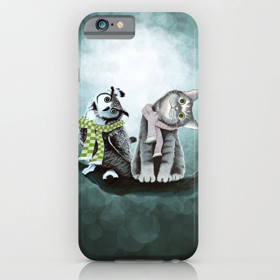 Cat and Owl iPhone & iPod Case