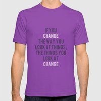 Change The Way You Look … Mens Fitted Tee Ultraviolet SMALL