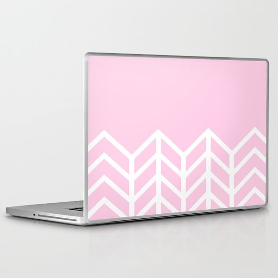 LACE CHEVRON (PINK) Laptop & iPad Skin