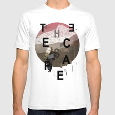 THE ESCAPE SMALL Mens Fitted Tee White