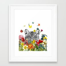 Happy Tiger Framed Art Print