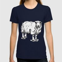 Sheep Sheep. Womens Fitted Tee Navy SMALL