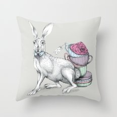 Tea with Hatter Throw Pillow