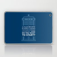 Doctor Who - TARDIS Wher… Laptop & iPad Skin