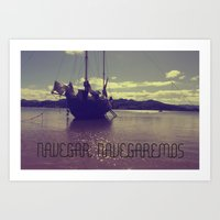 Palabras ( Words ) Sail … Art Print