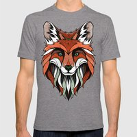Fox // Colored Mens Fitted Tee Tri-Grey SMALL