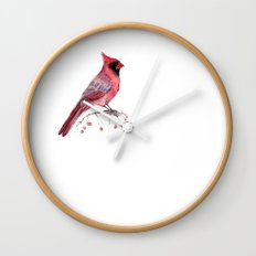 Red Cradinal Wall Clock