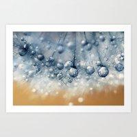 Sea Blue Dandy Art Print