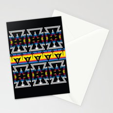 Large Native America inspired blanket print Stationery Cards