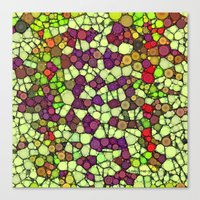 Stained Glass Jewels Canvas Print