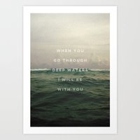 DEEP WATERS Art Print