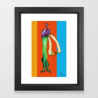 Kissing Ducks (color) Framed Art Print