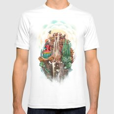peru White Mens Fitted Tee SMALL