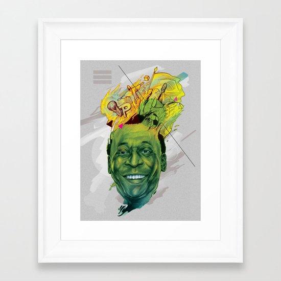 Rey Pele Framed Art Print