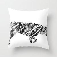 Labrador Scribble Throw Pillow