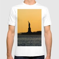 South Ferry Sunset Mens Fitted Tee White SMALL