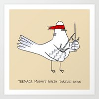 Teenage Mutant Ninja Turtle Dove Art Print