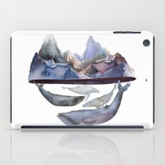 mountain and whales iPad Case