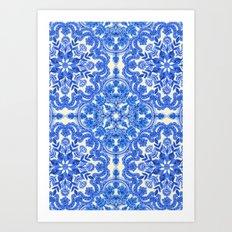 Cobalt Blue & China Whit… Art Print