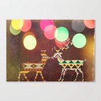 Disco Deer Canvas Print