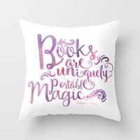 Books Are Uniquely Porta… Throw Pillow