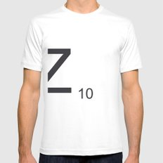 Scrabble Z White Mens Fitted Tee SMALL