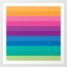 Retro Bright Multicolor … Art Print