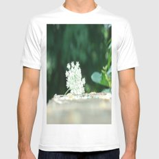 Queen Anne's Lace w/ bokeh SMALL White Mens Fitted Tee