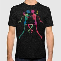 Skeleton Crush With Bana… Mens Fitted Tee Tri-Black SMALL