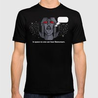 Space Scream Mens Fitted Tee Black SMALL