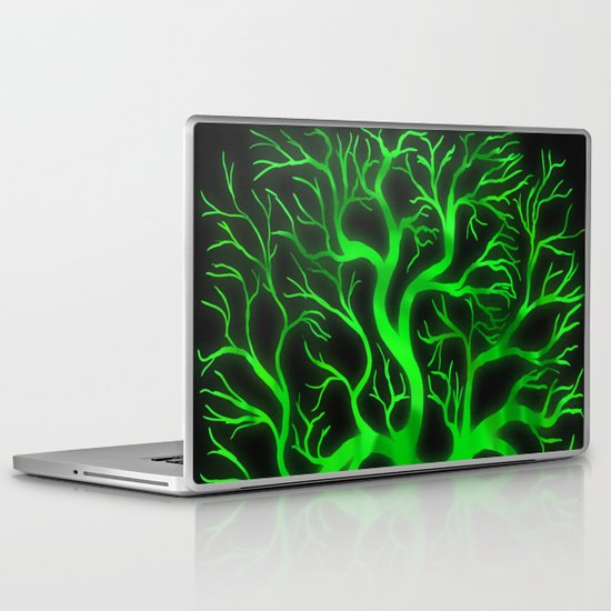 Emerald Branches Laptop & iPad Skin
