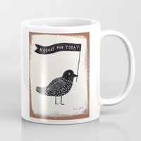 hooray for today - bird Mug