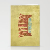 PAIN AND SUFFERING Stationery Cards