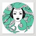 Octopus light blue Canvas Print