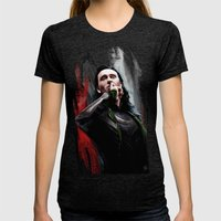 Silence Womens Fitted Tee Tri-Black SMALL