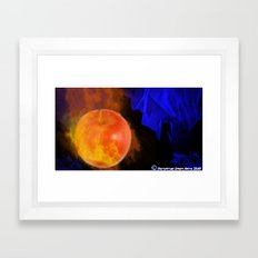 Ignited apple Framed Art Print