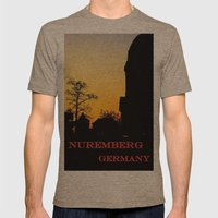 Jakobsplatz, Nuremberg Mens Fitted Tee Tri-Coffee SMALL