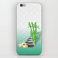 Meditation stones, bamboo and candles iPhone & iPod Skin